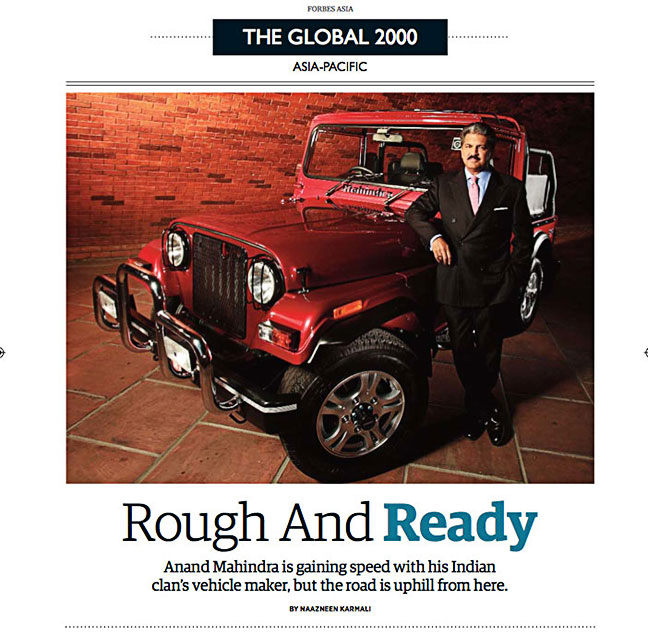 Published in Forbes Asia, Anand Mahindra, CMD MAHINDRA GROUP