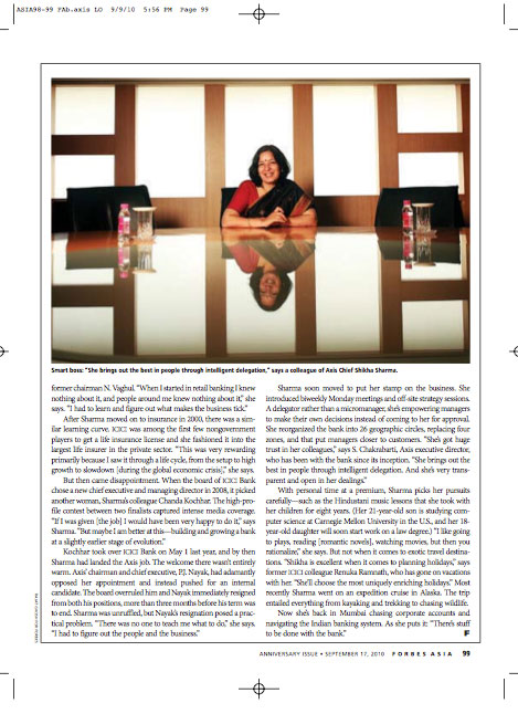 Published in Forbes Asia, shikha_sharma axis bank cmd